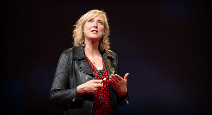 Carole Cadwalladr speaking at TED2019