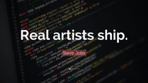 Real Artist ship - quote