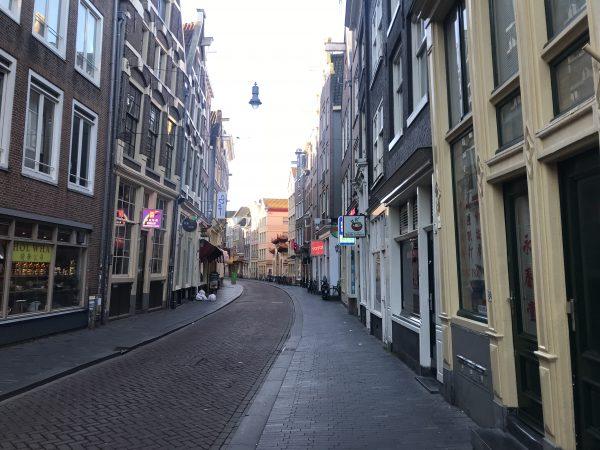 Amsterdam empty street 2