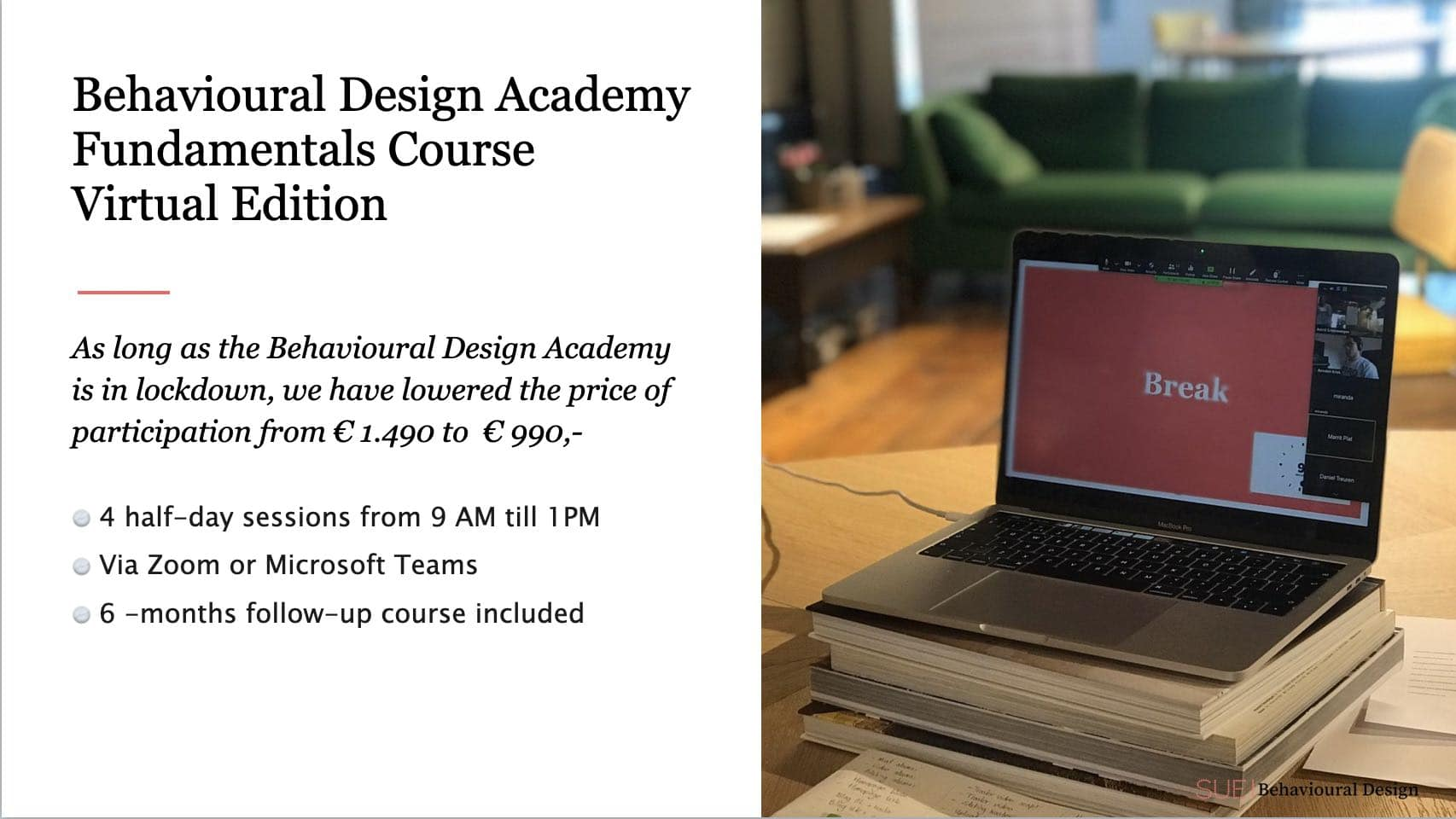 Behavioural Design Academy goes virtual banner